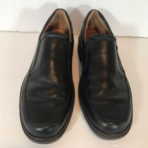 Ecco Black Leather slip on shoes